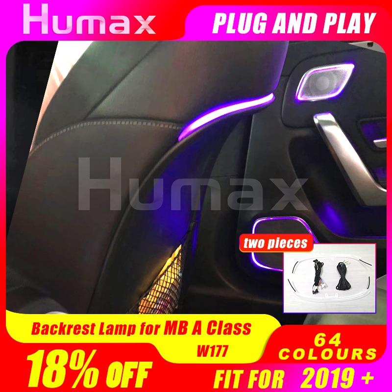 Backrest Ambient Light For Mercede A Class W177 A200 A180 Modified Original Luminous Rear Seat Light Modification