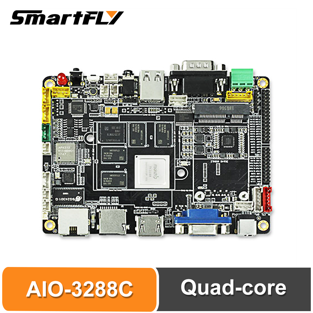 Smartfly Firefly AIO-3288C Single Board Computer RK3288 Quad-core Cortex-A17/Android 5.1/Linux/2GB Dual-channel DDR3 8GB EMMC 5