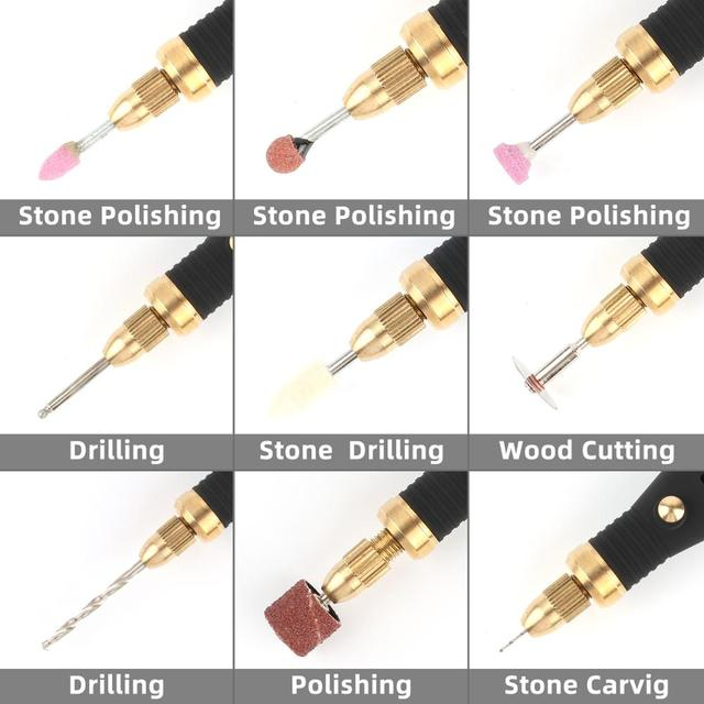 Electric Grinder Mini Drill Rotary Tools Grinding Machine 18000rpm USB Engraving Pen with Drill Bits Hand Tools WIth 100PCS Tips