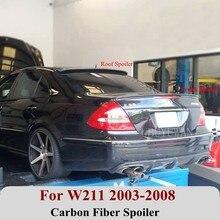 Aileron de toit arrière en Fiber de carbone pour Benz W211 2003-2008 E320L E260L E240 aile arrière de voiture
