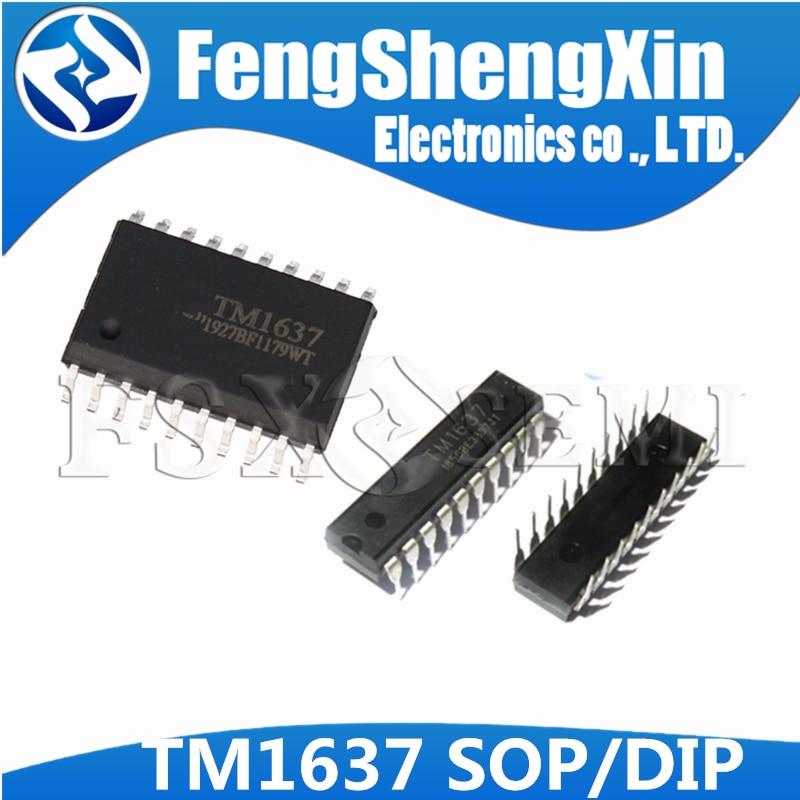 5 шт. TM1637 DIP-20 1637 DIP DIP20 SOP-20 SMD интегральная схема IC LED цифровой трубчатый чип драйвера
