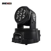 Mejor Envío rápido LED cabeza móvil Wash 7x12W RGBW iluminación Quad con advancedDJ DMX 10/15 canales, SHEHDS iluminación de escenario