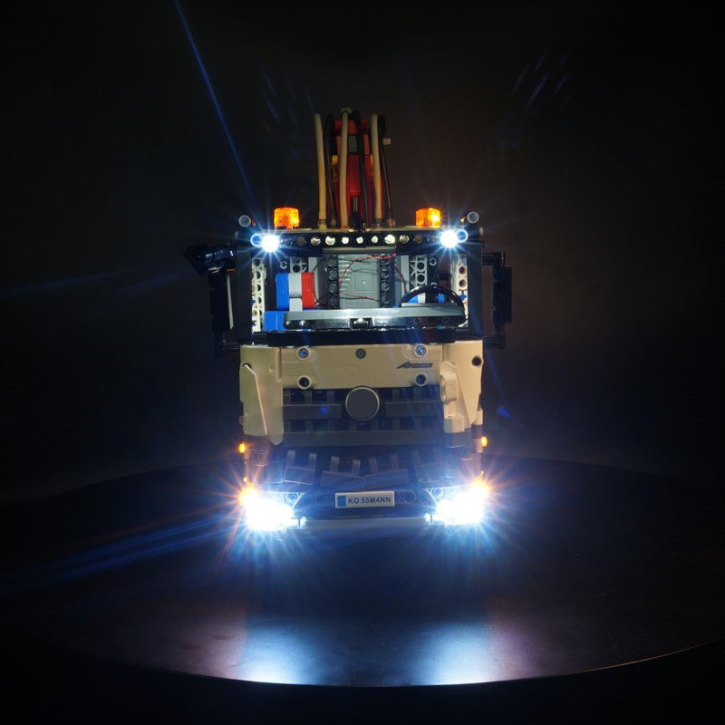 LED light up kit (only light included) for <font><b>lego</b></font> <font><b>42043</b></font> Compatible with <font><b>technic</b></font> series the Arocs 3245 truck image