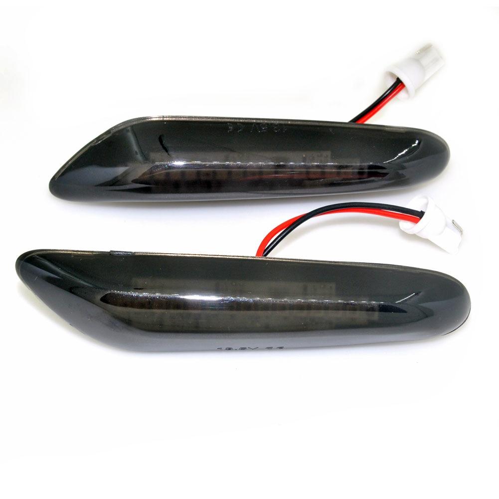 Uds E46 E36 E90 E91 E60 E61 E81 E82 LED ahumado lado repetidores lámpara de luz para BMW E87 E88 E92 E93 X1 E84 X3 E83 X5 E53