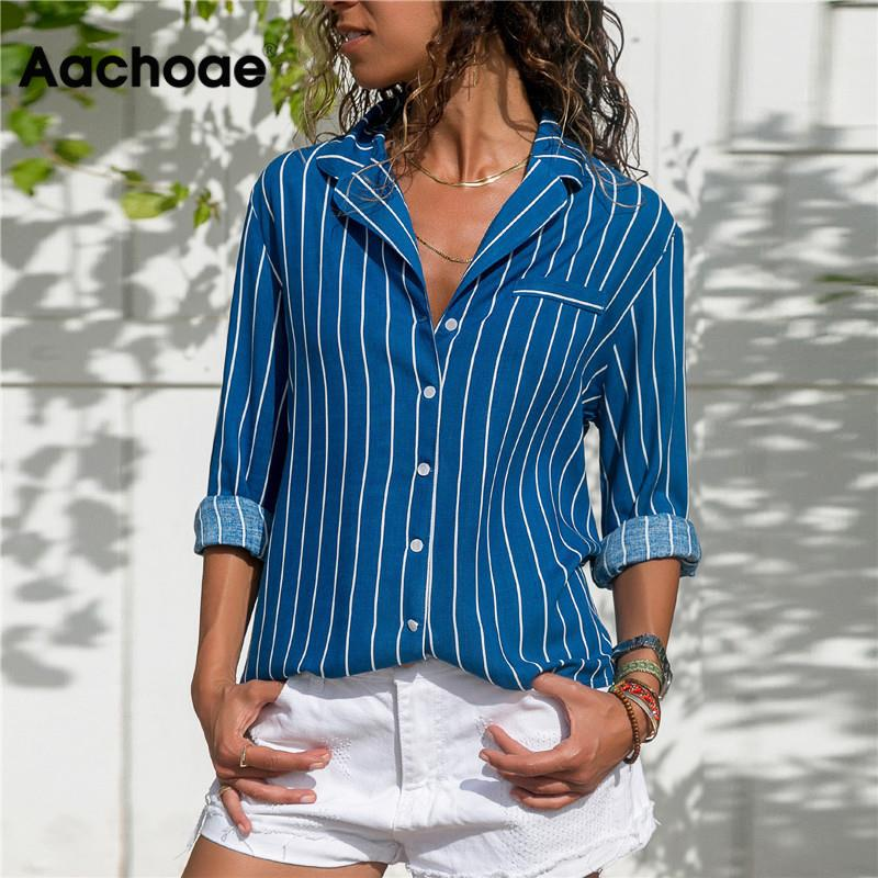 Striped Blouse 2020 Womens Tops And Blouses Long Sleeves Ladies Long Sleeve Office Shirt Striped Blouse Shirt Plus Size Blusas