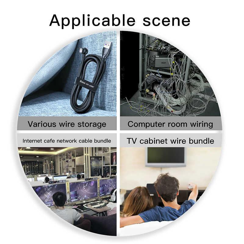 Baseus ケーブルオーガナイザーワイヤーワインダークリップイヤホンホルダーマウスコードプロテクター HDMI ケーブル管理 Iphone サムスン USB ケーブル