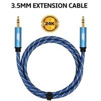 EMK 3,5 Jack кабель aux кабель штекер 3,5 мм аудио кабель 1 м наушники aux удлинитель для телефона автомобиля компьютера динамик mp3