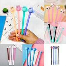 20pcs Cat Pens Kawaii Neutral Gel Pen Cute Black Ink For School Office Writing Gifts Korean Stationery Promotional