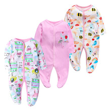3 pieces Baby Girl Boy Clothes Newborn Rompers Long sleeve Comfortable Pajamas Infant Jumpsuit boy Romper Girls Clothing set цена 2017