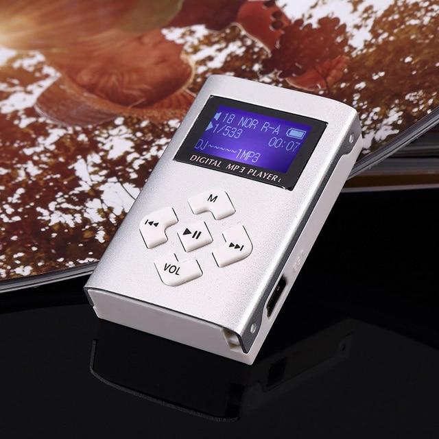 MP3 Music Player Mini Usb Clip Portable Lcd-scherm Ondersteuning 32Gb Micro Sd Tf Card Slot Digitale Mp3 Muziekspeler 3