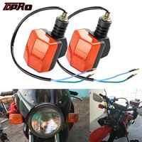TDPRO 2 pièces universel moto clignotant signaux indicateurs lumière ambre pour Honda CG125 CB125 CBT Suzuki Pit Dirt Bike