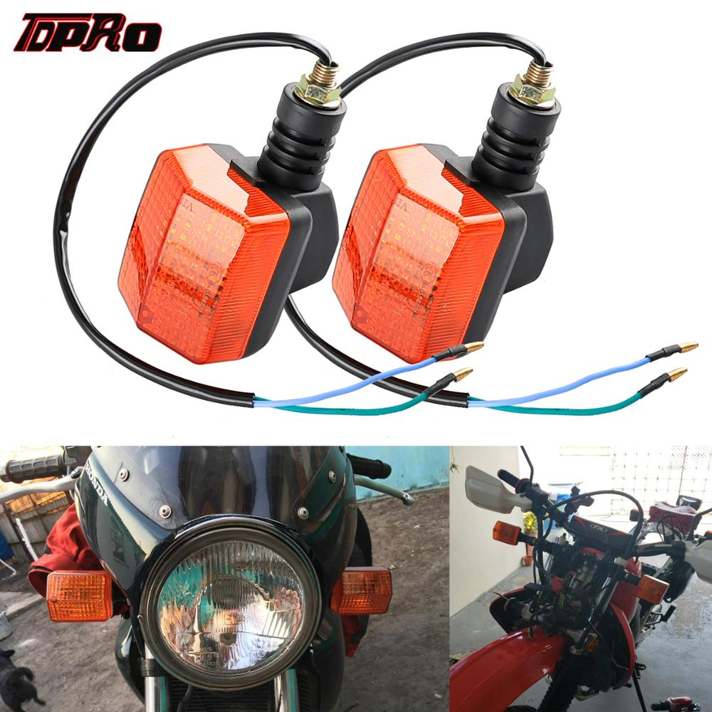 TDPRO 2pcs Universal Motorcycle Turn Signal Lamp Signals Indicators Light Amber For Honda CG125 CB125 CBT Suzuki Pit Dirt Bike