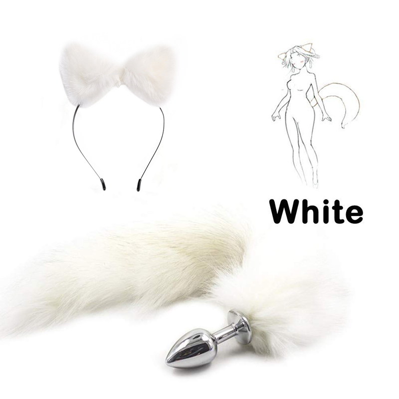 Erotic Toys <font><b>Cute</b></font> Soft Animal Fox Erotic <font><b>Cosplay</b></font> Tail <font><b>Sexy</b></font> Butt Anal Plug Adult Game Sex Toys For Couples Sex Products Shop image