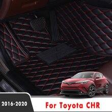 Автомобильные напольные коврики LHD для Toyota CHR 2020 2019 2018 2017 2016, коврики, внутреннее украшение автомобиля, Защитные Чехлы, кожа на заказ