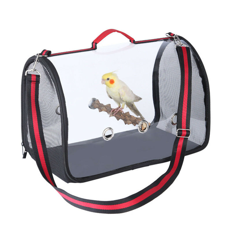 Transparent Pet Parrot Handbag Carrying Cage Outdoor Travel Breathable Carrier Bird Canary Transport Shoulder Bag Birds Supplies