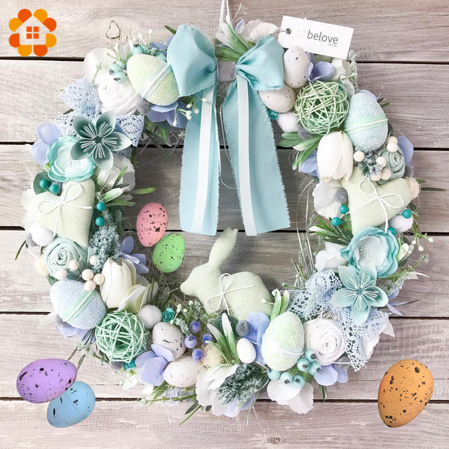 20/50 sztuk 2x3CM szczęśliwy Easter Egg dekoracji sztuczny kwiat dla domu Party Craft DIY dla dzieci prezent dla dzieci na rzecz wielkanoc dekoracji dostaw