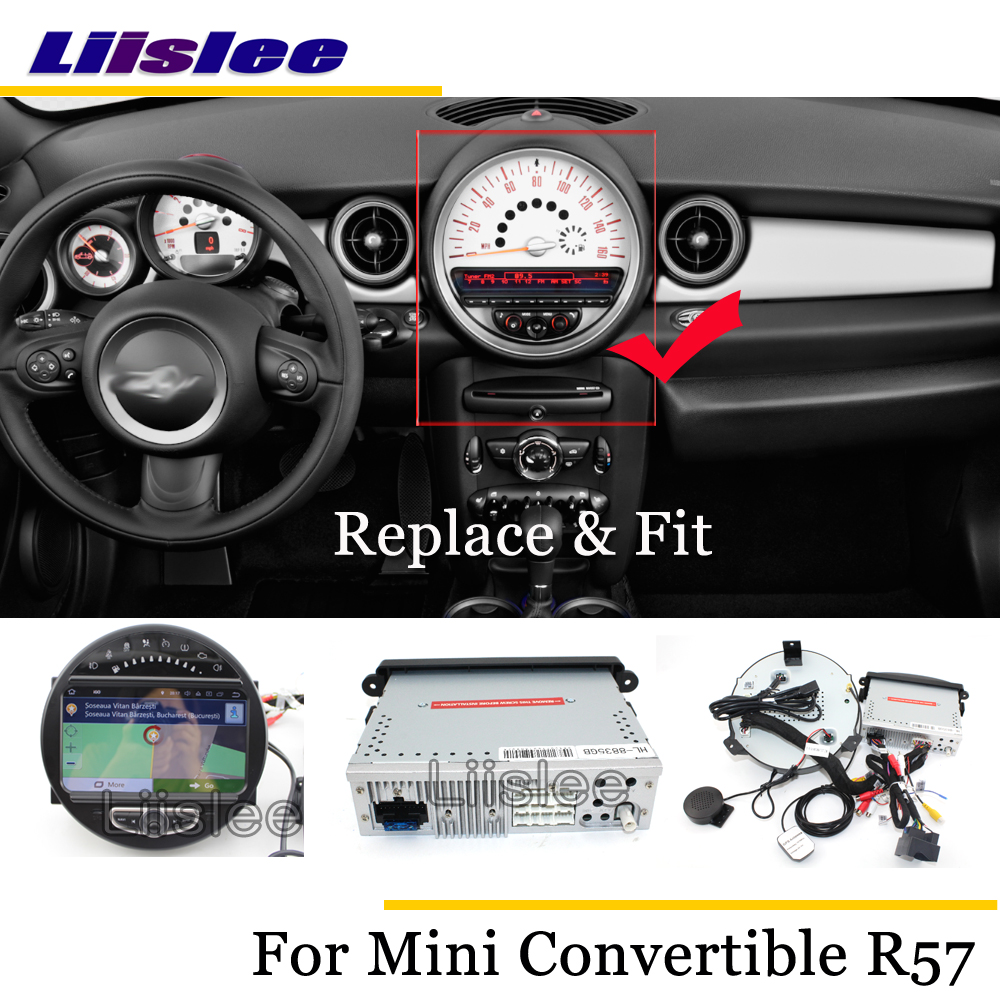 Liislee Car Android Multimedia For Mini Convertible R57 2009~2017 Stereo Radio Audio TV Carplay GPS Navi Map Navigation System