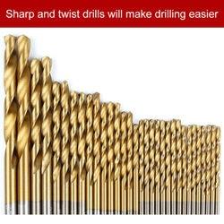 99 sztuk zestaw wierteł kobaltowych do metalu ze stali nierdzewnej HSS Co kobalt Bit tytanu wiercenia w drewnie bity wiertła do drewna|Wiertła|   -