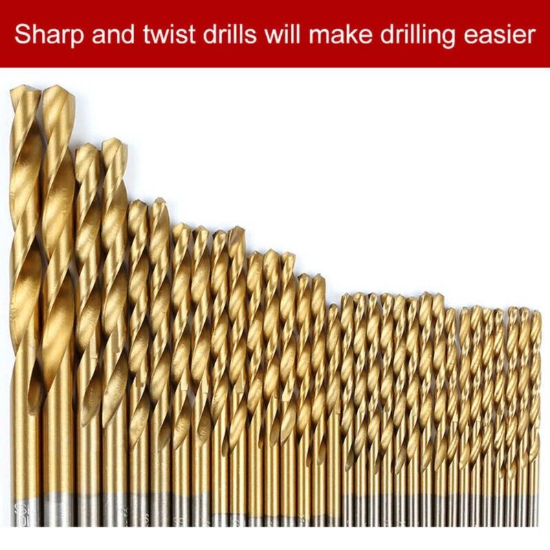 99pcs Cobalt Drill Bits Set For Stainless Steel Metal HSS Co Cobalt Bit Titanium Woodworking Drilling Bits Wood Drill Bit