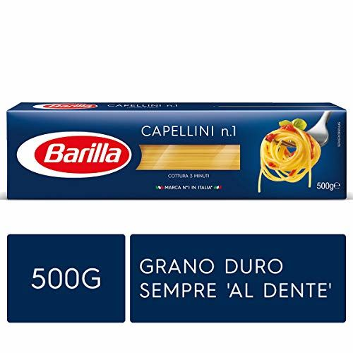 BARILLA Classics Capellini N. 1 500 Grams 3 Minutes Cooking Pasta Made In Italy