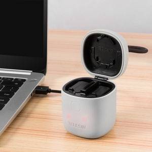 Image 4 - TELESIN 2 paket NP FW50 pil ve 2 yuvaları şarj USB kart okuyucu saklama kutusu Sony NP FW50 A7r2 A6000 pil