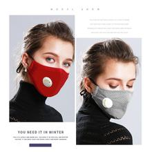Washable PM2.5 Anti Haze Mask Breath Valve Anti dust Mouth Mask Activated Carbon Filter Respirator Mouth muffle Face Mask