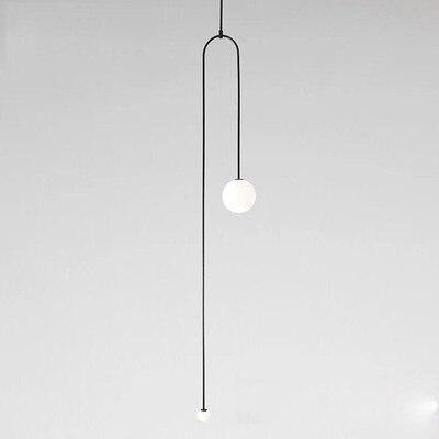 Postmodern U-Tube Pendant Lights Indoor Decor Hanging Lighting Fixtures Nordic Industrial Pendant Lamp Restaurant LED luminaires