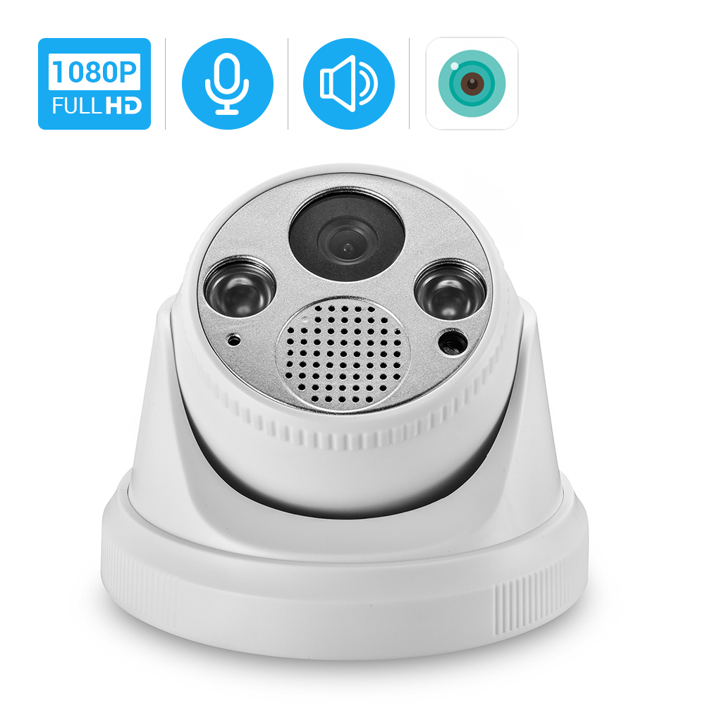 HD 1080P Wifi Camera Indoor Dome Wireless Camera Nightvision Two Way Audio Email Alert  iCSee Xmeye Cloud Home Security Camera