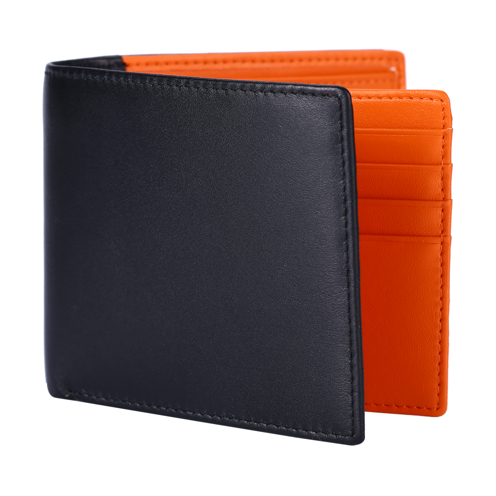 Hot-selling men's wallet cowhide coin money clips with multi-card slots and large capacity anti-theft small money bag