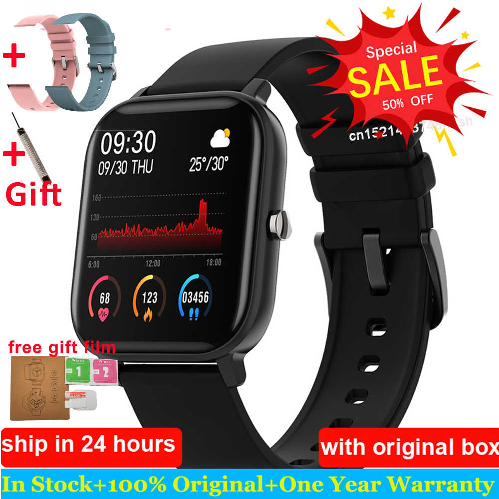 P8 1.4 pouces montre intelligente hommes pleine touche Smartwatch Fitness Tracker tension artérielle Fitness Tracker horloge intelligente femmes Smartwatch.