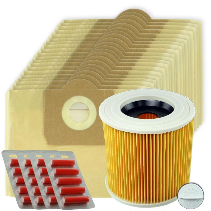 20 double filtration Large Sacs Pour Karcher WD3 WD3P MV3 Wet /& Dry Vacuum