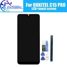 6.09 inç OUKITEL C15 PRO LCD ekran + dokunmatik ekranlı sayısallaştırıcı grup 100% orijinal LCD + dokunmatik Digitizer OUKITEL C15 PRO