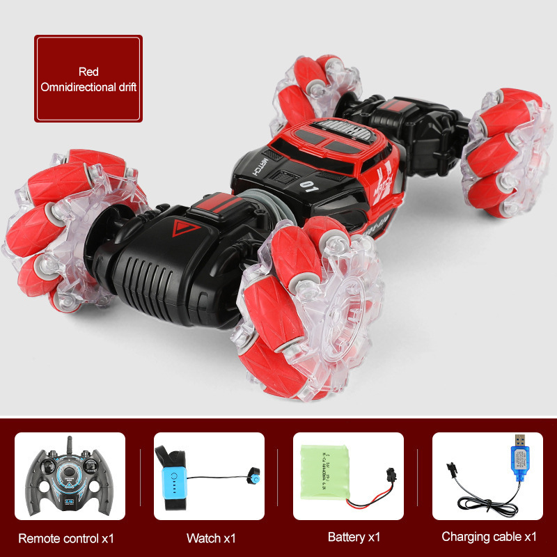 1 16 4WD RC Stunt Car Watch Gesture Control Deformable Electric RC Car with LED Light
