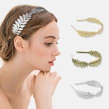 Metal Leaf Headband High Quality Textured for Wedding Bride Bridesmaid Hair Accessories Headwear Band