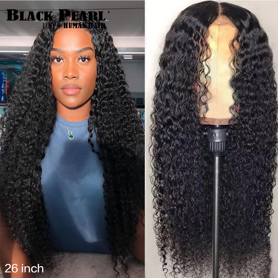 150% Density Deep Wave 13X4 Lace Front Human Hair Wig With Baby Hair Brazilian Remy Human Hair Frontal Wigs For Women 8-30 Inch
