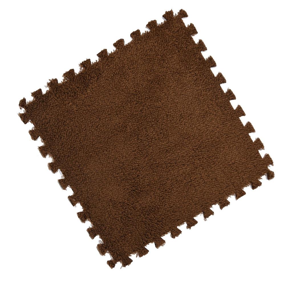 H34546aa8b756492cbf02599873866ce6z Play Mats 25X25cm Kids Carpet Foam Puzzle Mat EVA Shaggy Velvet Baby Eco Floor 7 colors 10.30