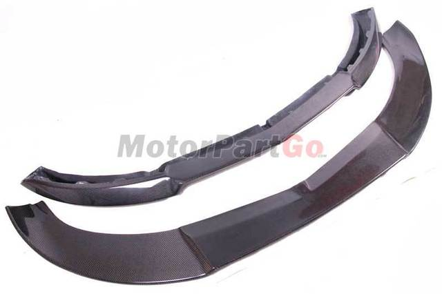2 PCS Carbon Fiber Front Bumper Lip for Mercedes Benz A Class W176 A250 Sport Bumper 2013 -2015 Head Chin shovel CarStyling M179 3