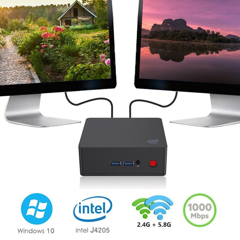 AP45 Mini PC Windows 10 Intel Apollo Lake J4205 8GB RAM 128G/ 256G/512G ROM 2.4G+5.8G WiFi 4K1000Mbps BT4.0 Office Mini PC