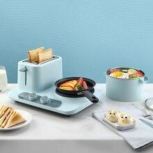 3 в 1 Электрический чайник для завтрака бытовой паровой яичный каша тост машина для завтрака 2 тостер для ломтиков хлеба тост тушеная Жарка набор