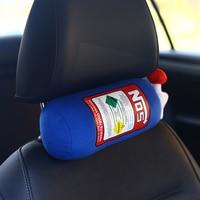 Jdm garrafa travesseiro brinquedo de pelúcia turbocharger jdm viagem encosto cabeça do carro pescoço resto almofada decoração hellaflush|Suportes de assento|   -