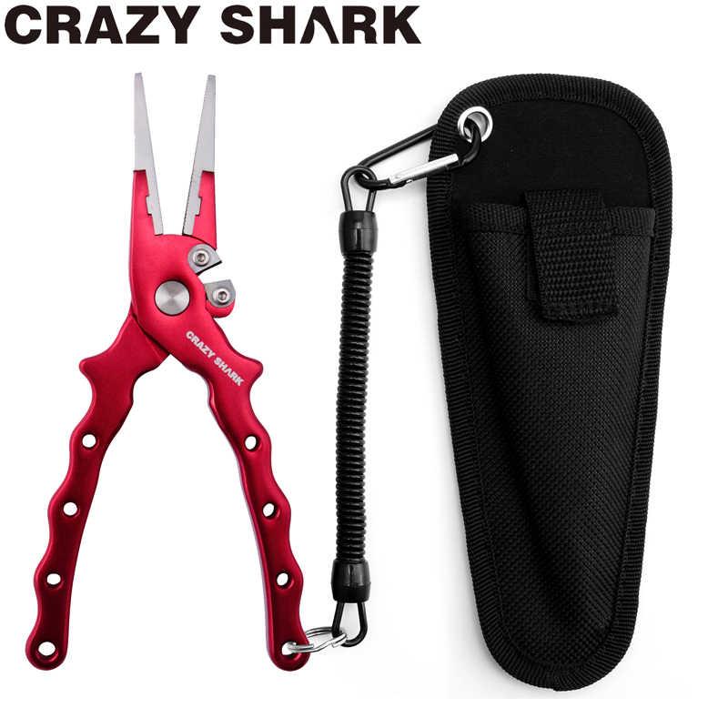 Crazy כריש 17cm אלומיניום דיג צבת וו מסיר קו חיתוך כלים קרפיון דיג מספריים מוצרים עבור מים מתוקים/מלוחים