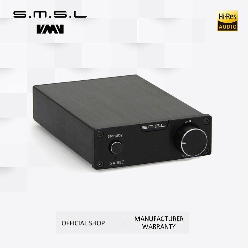 SMSL SA 98E 160W * 2 Grande Potenza HIFI Amplificatore Digitale TDA7498E Classe T AMP con 36 V/5A adattatore di Alimentazione Nero Argento Oro