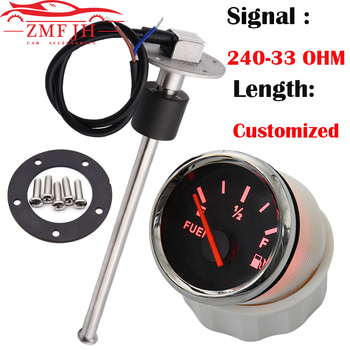 150-600mm Stainless Steel Marine Fuel Level Gauge Sensor Fit Boat Car Fuel Level Gauge Meter 240-33ohm with Red Backlight 9-32V image