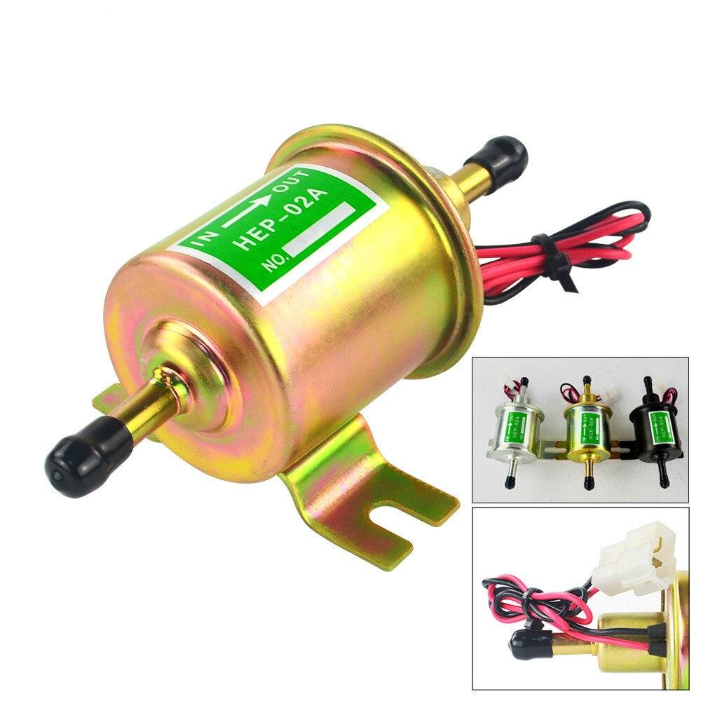 Yüksek kaliteli düşük basınçlı evrensel dizel benzin benzinli elektrikli yakıt pompası HEP-02A 12V 24V için araba motosiklet