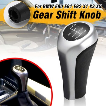 6 Speed MT Gear Shift Knob Shifter Handle Lever Shift Stick For BMW 1 3 5 6 Series X1 X3 X5 E81 E82 E87 E90 E91 E92 E60 E84 E83 image