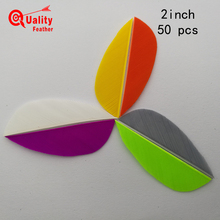 New  50pcs 2 Real Turkey Feather Water Drop Cut Arrow Fletching Hunting Shooting Diy Accessories