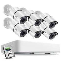 ZOSI H.265+ Super HD 5MP Home Video Surveillance Kit 8CH CCTV DVR Kit 6pcs 5MP Indoor/Outdoor Waterproof Security Camera System