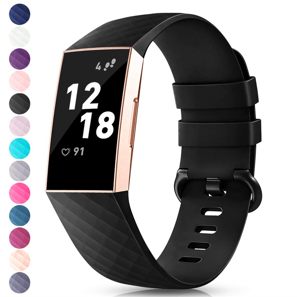 Band For Fitbit Charge 3 Strap Silicone Accessories Wristband For Fitbit Charge 3SE Replacement Strap For Fitbit Charge 3 Band