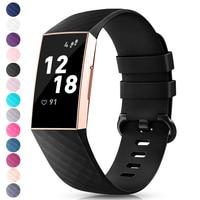 Correa de silicona para Fitbit Charge 3, accesorios de reemplazo para Fitbit Charge 4