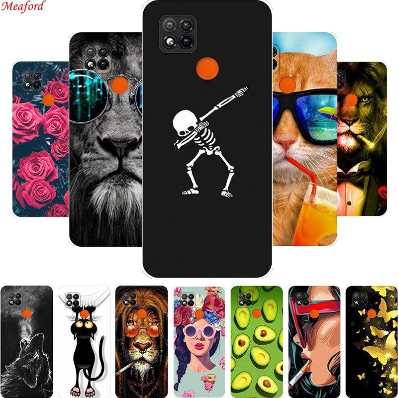 C/árcasa Silicona Rosado con un Suave Dise/ño de Dibujos Animados Antigolpes Patr/ón Case Cover Bumper Fundas Movil para Xiaomi Redmi 9C Yoedge Funda para Xiaomi Redmi 9C 4G 6,53 Fresa 1